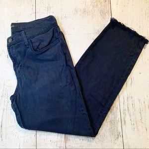 J Brand Dark Indigo Cropped Jeans sz 28